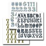 Retro Font Stickers
