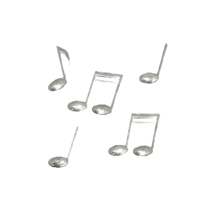 Plastic Music Note Charms